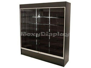 Black Color Wall Display Case Knocked Down Showcase wc6b sc