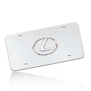 Lexus 3d Logo Chrome Stainless Steel License Plate