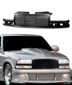 For 1998 2004 Chevy S10 Blazer Truck Black Horizontal Billet Front Bumper Grille