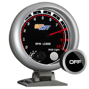 95mm Glowshift Dashboard 10 000 Rpm Tachometer Tach Gauge Meter W Tinted Face