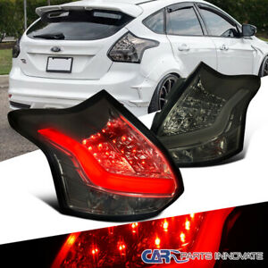 For 12 14 Ford Focus Hatchback Replacement Led Smoke Tail Lights Brake Lamps 2pc