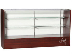 70 Cherry Full Vision Showcase Display Store Fixture Fully Assembled sc sc6c