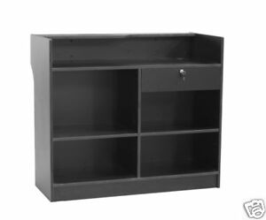 Register Black Stand Display Case Store Fixture Wood Knocked Down ltc4bk sc