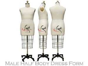 Professional Pro Working Dress Form Mannequin Male Half Size 40 W hip