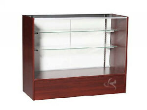 48 Cherry Full Vision Showcase Display Store Fixture Knocked Down sc4c sc