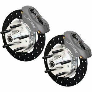 Wilwood 2 Wheel Set Brake Disc And Caliper Kits Front New For Chevy 140 1033 Bd