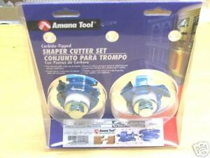 Amana Tool Shaker Mission Stile rail Shaper Cutters Sc554 New