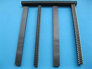 40 Pcs Gold Smt Smd 2 54mm 80pin Breakable Female Pin Header Double Row Strip