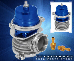 50mm External Waste Gate Bypass Exhaust Header Manifold Turbo Charger Wg Blue