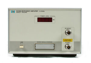 Keysight Agilent 8349b Solid State Microwave Amplifier 2 Ghz To 20 Ghz