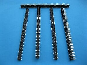 120pcs Smt Smd 2 54mm 80pin Breakable Male Pin Header Connector Double Row Strip