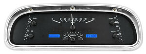 Dakota Digital 60 63 Ford Falcon Analog Gauges Black Alloy Blue Vhx 60f Fal K B