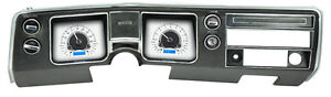 Dakota Digital 1968 Chevelle El Camino Analog Gauges Silver Blue Vhx 68c cvl s b