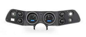 Dakota Digital 70 81 Chevy Camaro Analog Gauges Kit Black Blue Vhx 70c cam k b