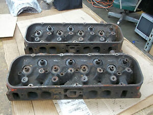 1968 85 Big Block Chevy Truck Oval Port Cylinder Heads 343771 771 1976