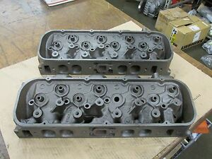 1966 Big Block Chevy 396 427 Oval Port Heads 3872702 702 A 5 6 B 1 6