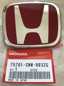 Genuine Jdm Honda Fd2 Rear Red Emblem 06 11 Civic Oem Type R New 75701 snw 003zg