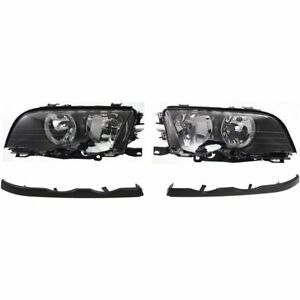 Headlight Kit For 1999 2000 Bmw 323i 2001 325xi Left And Right 4pc
