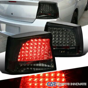 05 08 Dodge Charger Smoke Lens Led Parking Tail Lights Tinted Rear Brake Lamps