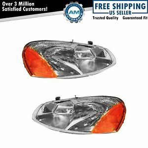 Headlights Headlamps Left Right Pair Set For Chrysler Sebring Dodge Stratus