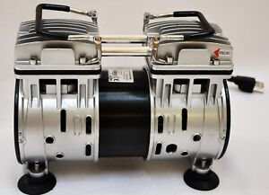 Twin Piston Oil less Vacuum Pump 4cfm Medical Lab Bagging Workshop Milker Hookup