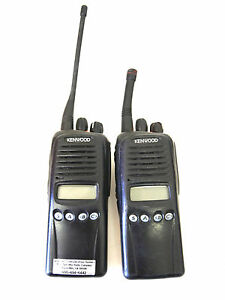 Lot Of 2 Kenwood Tk 3180 K Uhf Two Way Radio Working No Battery Charger