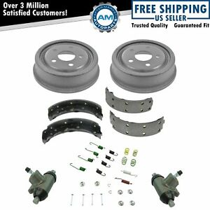 Rear Brake Drum Shoe Hardware Wheel Cylinder Kit Set For Gm Chevy Olds Pontiac