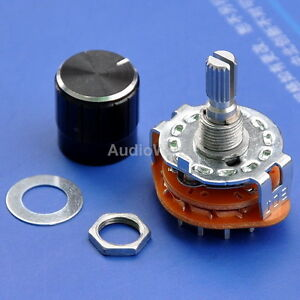 4 Pole 3 Way Mbb Rotary Switches With Knobs 50pcs