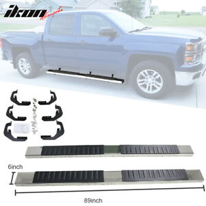 Fits 07 17 Silverado Sierra 1500 Crew Cab 6inch Nerf Bar Running Boards Chrome