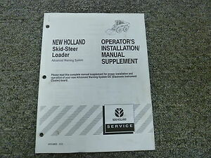 New Holland Advanced Warning System On Skid Steer Owner Operator Install Manual