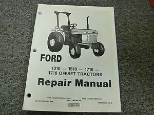 Ford 1310 1510 1710 1710 Offset Tractor Shop Service Repair Manual Book