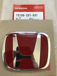 Jdm Ep3 Front Red Emblem 00 03 Honda Civic New Genuine Oem 75700 s5t e01