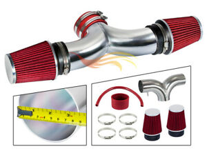 Dual Twin Air Intake System red Filter For 06 10 Jeep Commander 5 7l V8 Hemi