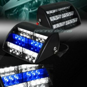 18 Led White Blue Emergency Warning Dashboard Flash Strobe Light Universal 3