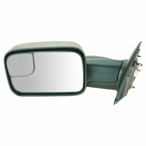 Mirror Power Heated Towing Flip Up Driver Side Left Lh For Dodge Ram Pickup New