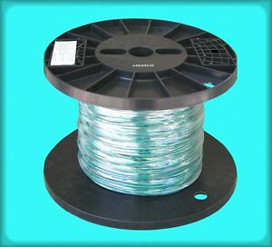 500 Feet Green Machine Tool Wire Mtw 12 Stranded Copper On Reel Clean Unused