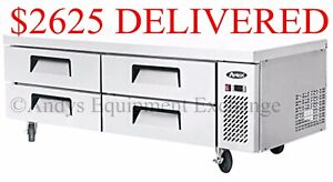 Chef Base Refrigerated Work Top Table Station 4 Drawers 72 Inch 6 Foot Wide 72