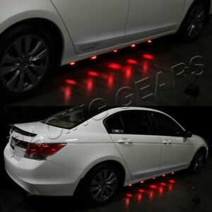Underglow Under Car 90 Led Brabus Style Red Puddle Lighting Lamps Undercar