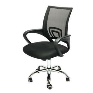 Ergonomic Mid back Mesh Computer Office Chair Desk Task Swivel Chair Black