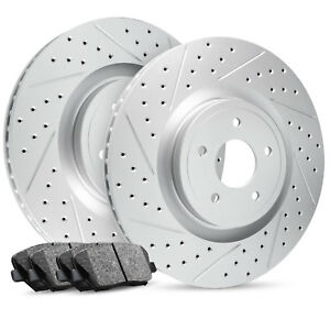 2012 2016 Ford Focus Front Premier Drilled Slotted Brake Rotors