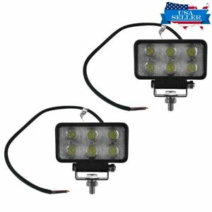 Light Bar Pair 4 Inch 18w 6 Led 30 Degree Round Work Spot Suv Truck 4wd Offroad