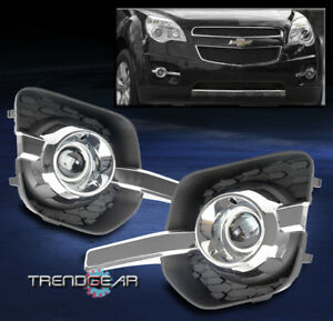 2010 2015 Chevy Equinox Bumper Driving Fog Lights Lamps Chrome W Wiring Harness