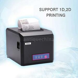 Hoin 80mm 58mm Pos Receipt Paper Barcode Thermal Printer Usb lan For Store Mall