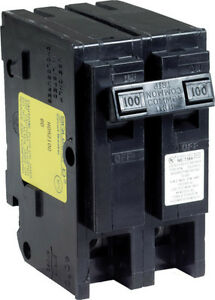Square D Homeline Double Pole 100 Amps Circuit Breaker