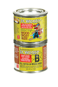 Pc Products Pc woody Wood Repair Epoxy Paste Two part 6 Oz In Two Cans Tan