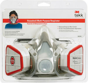 3m Household Half face Mask Respirator 1 Pk