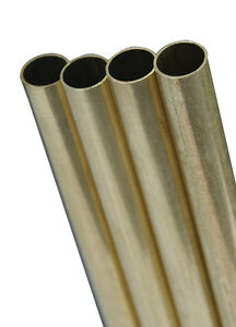 K S Precision Metals 8139 1 2x12 Rnd Brs Tube Pack Of 1