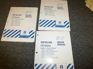 New Holland Cr Cr920 Cr960 Combine Electrical System Service Repair Manual Set