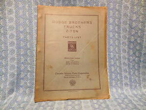 1929 1930 Dodge Truck 2 Ton Original Illustrated Parts List Book See Detailed Ad