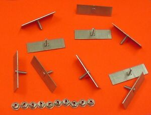 10 Dodge Body Side Moulding Fasteners 2 1 2 X 3 4 Perforated Clips Bolts Nos 378